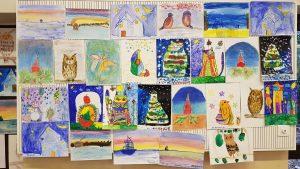 Выставка работ учеников школы