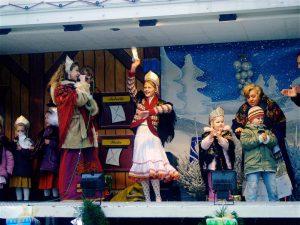 Выступление на новогоднем базаре