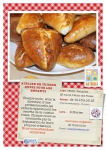 Atelier de cuisine russe pour les  enfants le 9 février