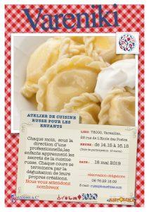 Atelier de cuisine russe pour les  enfants le 18 mai 2019