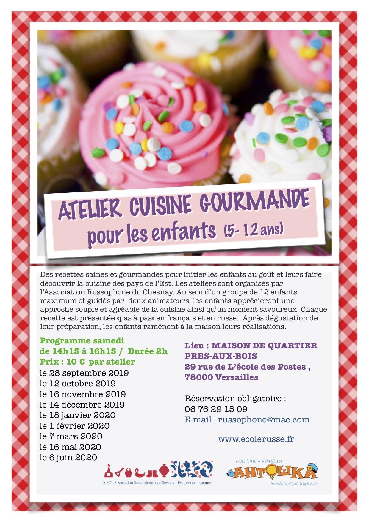 Atelier cuisine russe pour les enfants 2019-20
